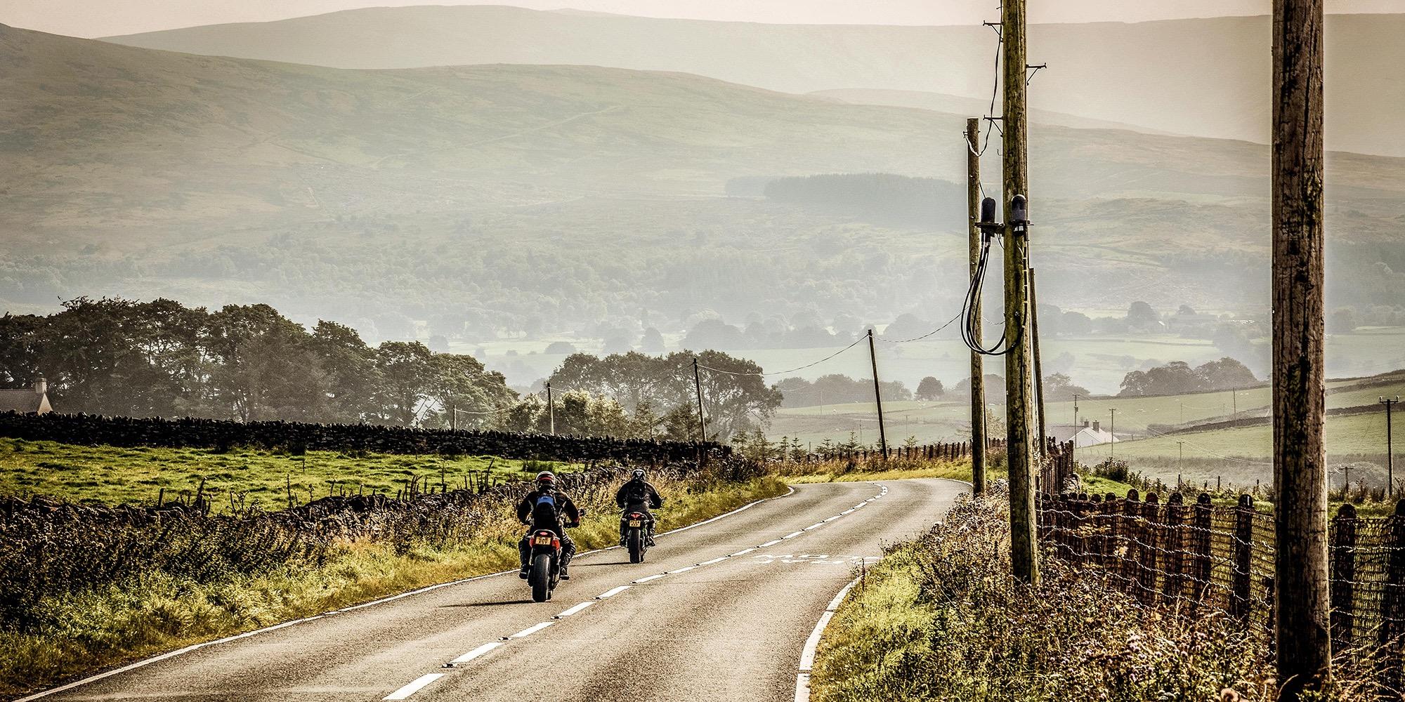 Bike riders on the road